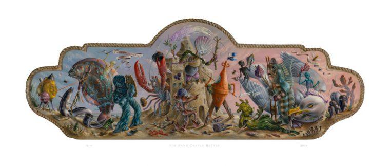 THE SAND CASTLE BATTLE / fine art giclée print