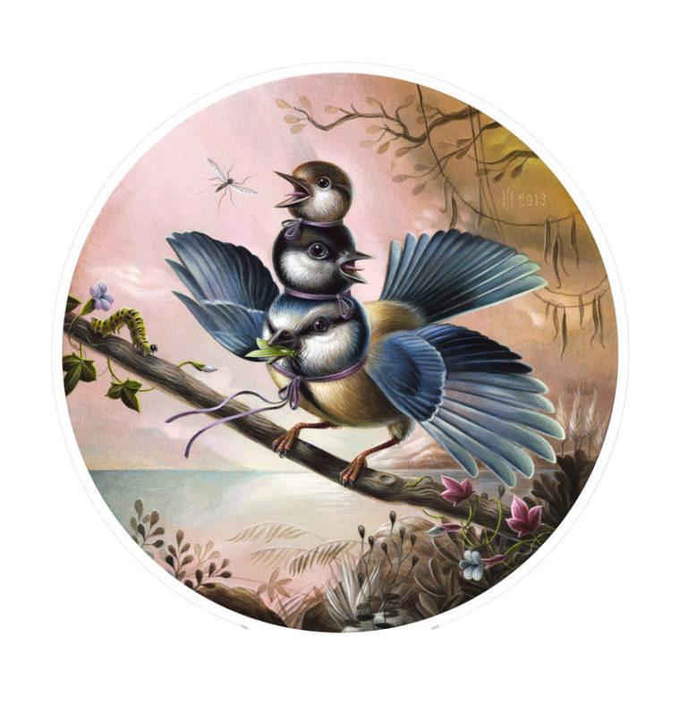 FUN BIRD THREE / fine art giclée print